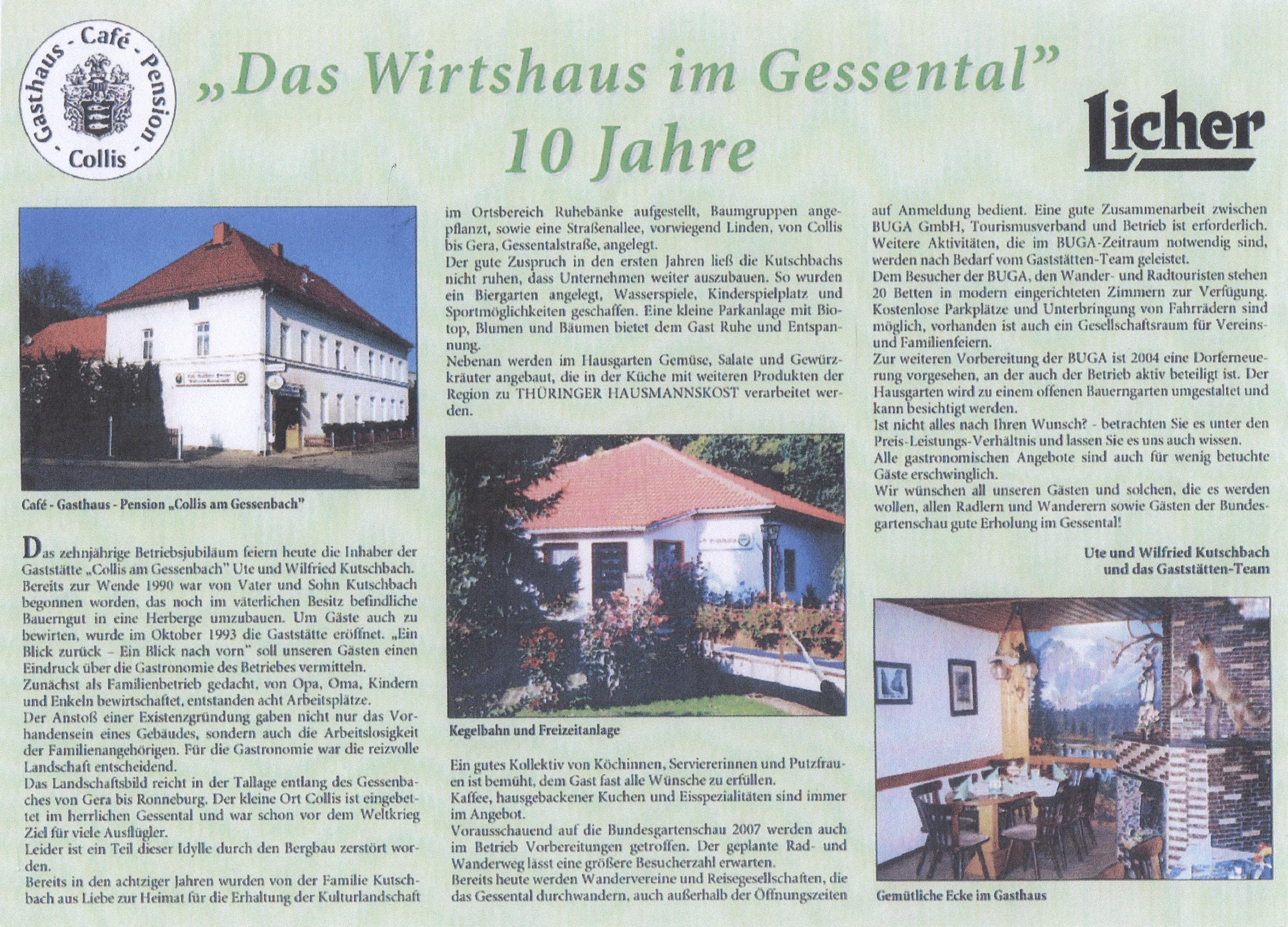 Collis am Gessenbach 10 Jahre